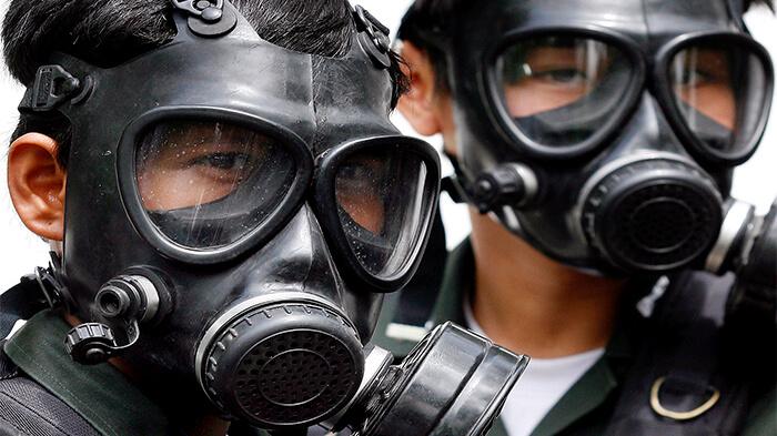 ماسک شیمیایی تمام صورت دو فیلتر