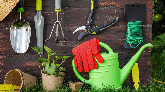 انواع ابزار باغبانی