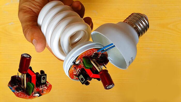 تعمیر سوئیچینگ لامپ کم مصرف