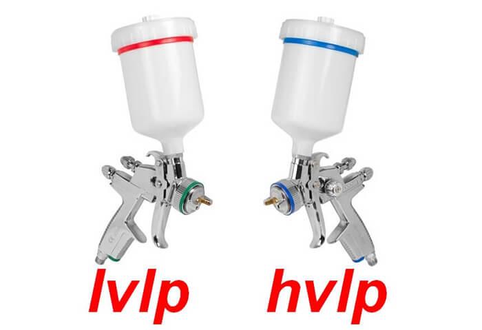 تفاوت پیستوله بادی HVLP و LVLP