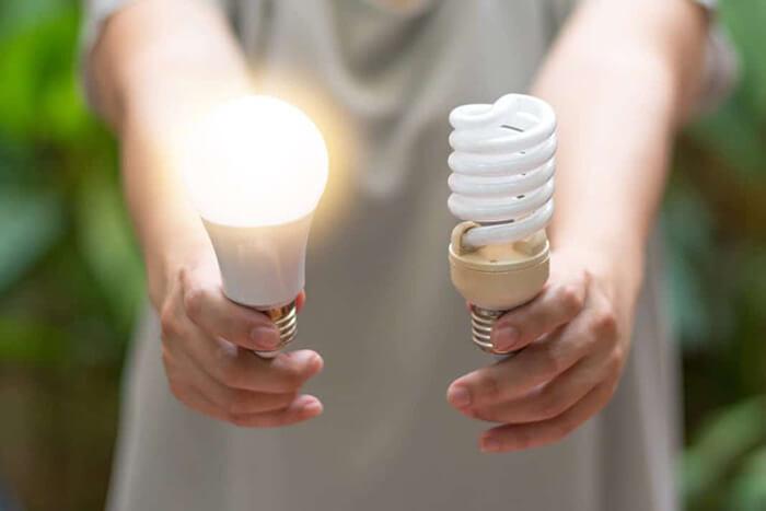 تفاوت لامپ رشته ای و لامپ کم مصرف