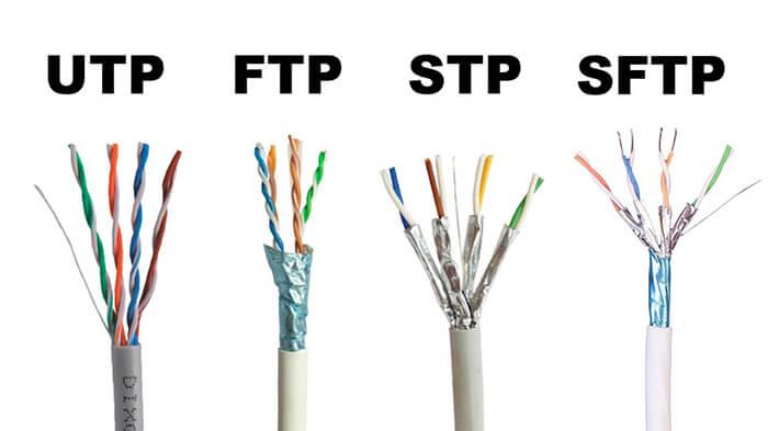 تفاوت کابل شبکه UTP و STP و FTP و SFTP