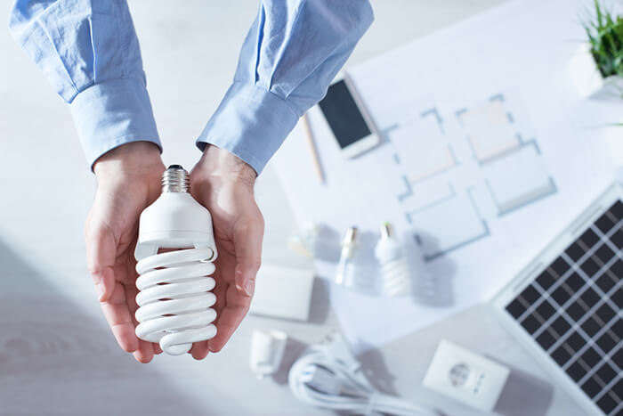لامپ کم مصرف مارپیچ