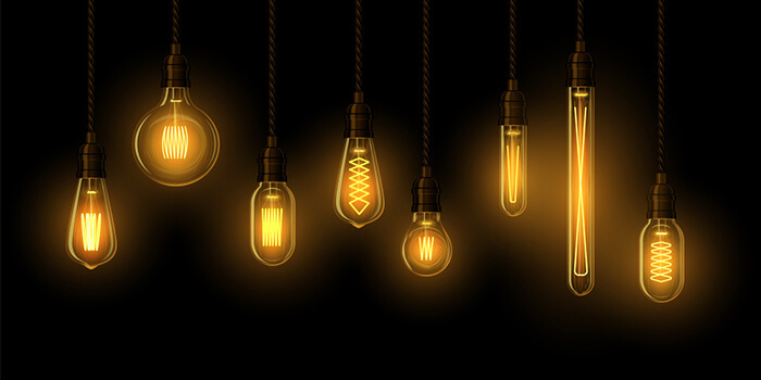 انواع لامپ فیلامنت