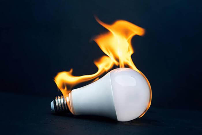 کنترل گرمای لامپ ال ای دی