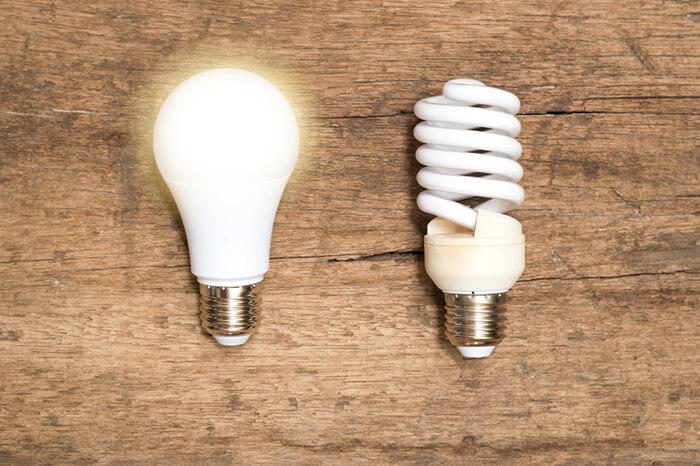 لامپ ال ای دی بهتر است یا کم مصرف؟