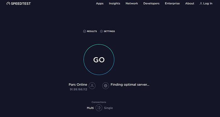 سایت speedtest.net