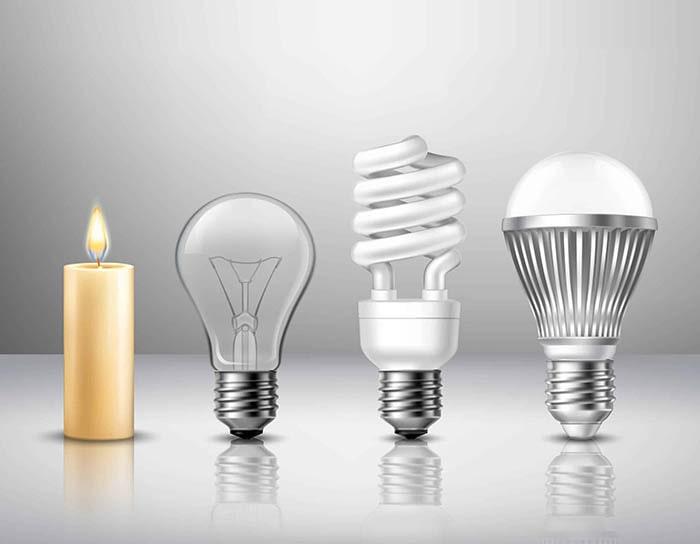 تاریخچه لامپ ال ای دی