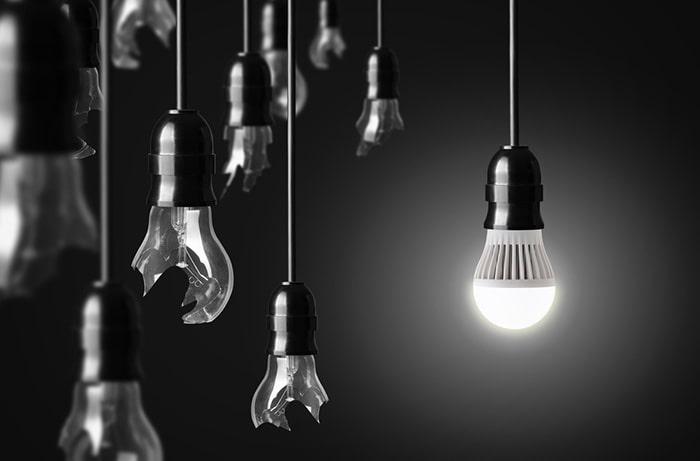 تولید گرمای کم، بدون آسیب به ساختار لامپ