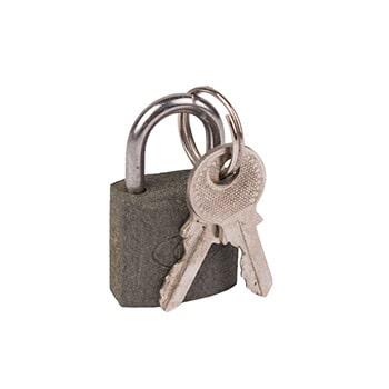 قفل آویز طوسی سایز 50 میلی متر کد 355