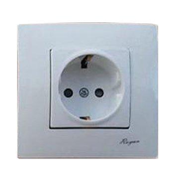 پریز برق توکار رویان الکتریک ارت دار مدل یونیک سفید