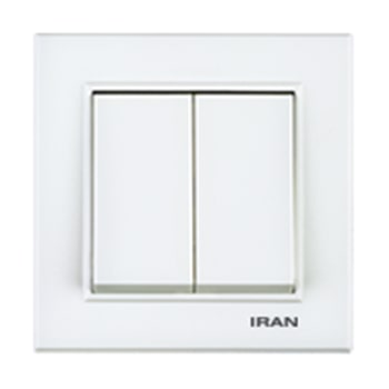 کلید-دو-پل-توکار-ایران-الکتریک-مدل-برلیان-سفید0