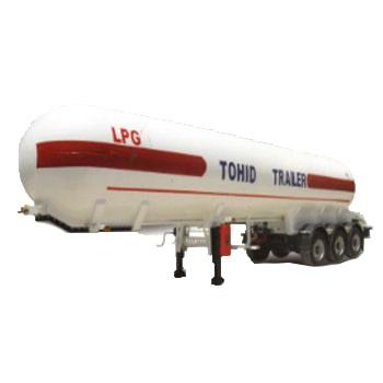 تریلر تانکر حمل گاز مایع سه محور توحید مدل استوانه ای