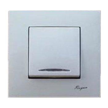 کلید تک پل توکار رویان الکتریک مدل یونیک سفید