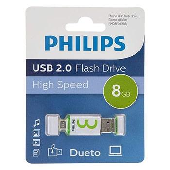 فلش-مموری-فیلیپس-مدل-Dueto-FM08FD128B-ظرفیت-8-گیگابایت0