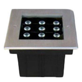 چراغ دفنی 25 وات RGB گلنور مدل فلورین 2 مربعی IP67