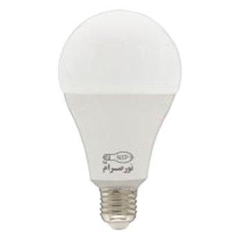 لامپ-ال-ای-دی-حبابی-9-وات-نور-صرام-پویا-مدل-A60-مهتابی-سرپیچ-E270