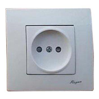 پریز برق توکار رویان الکتریک مدل یونیک سفید