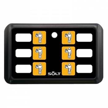 پیجر-فراخوان-گارسون-SOLT-شش-کلید-مدل-SB6-6PBK0