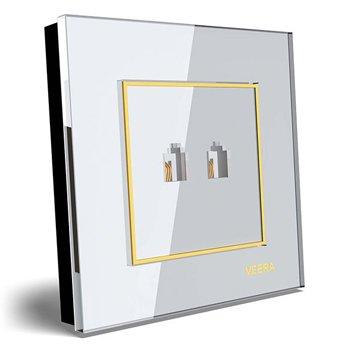 سوکت-تلفن-دوقلو-توکار-ویرا-الکتریک-مدل-امگا-سفید-طلایی-سفید0