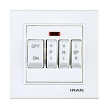 کلید-کولر-چهار-پل-توکار-ایران-الکتریک-مدل-برلیان-سفید0