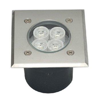 چراغ دفنی 12 وات زمرد نور مدل عطارد مربعی IP65
