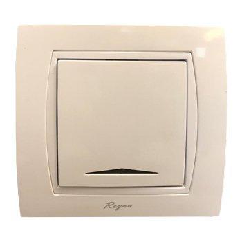 کلید تک پل توکار رویان الکتریک مدل پارس سفید