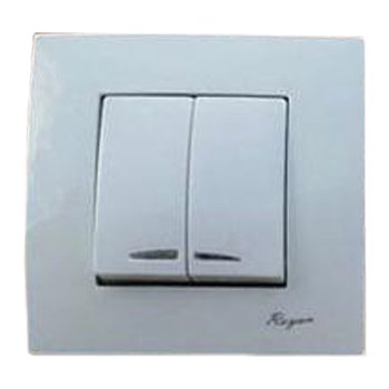 کلید-دو-پل-توکار-رویان-الکتریک-مدل-یونیک-سفید0