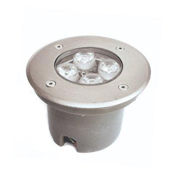 چراغ دفنی 1*4 وات زمرد نور مدل عطارد دایره ای IP65