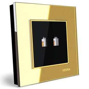 سوکت-تلفن-دوقلو-توکار-ویرا-الکتریک-مدل-امگا-طلایی-طلایی-مشکی0