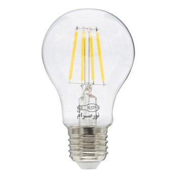 لامپ ال ای دی حبابی فیلامنتی 8 وات نور صرام پویا مهتابی سرپیچ E27