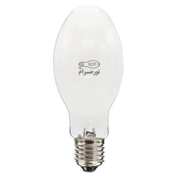 لامپ بخار جیوه پرفشار بیضوی 250 وات نور صرام پویا سرپیچ E40