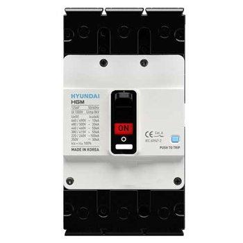 کلید اتوماتیک کمپکت هیوندای 3 پل 160 آمپر حرارتی قابل تنظیم